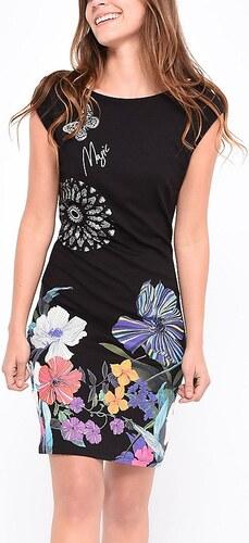 Desigual čierne šaty Anthony s farebným motívmi - Glami.sk 54f9500d515