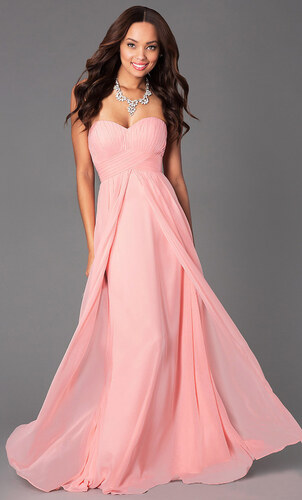 d673211bd855 Glamor Elegantné dlhé šaty na svadbu ružové - Glami.sk
