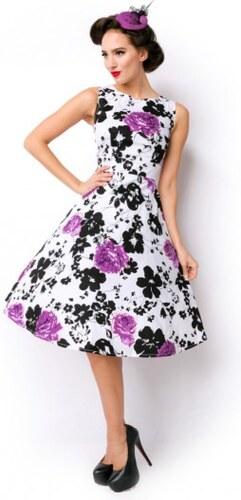 Retro šaty s kvetinovým vzorom a lá 50 roky 14775 N11065 - Glami.sk 8d84d8deb83