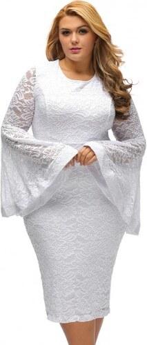 4cce121bb884 Čipkované biele spoločenské šaty pre moletky N14459 - Glami.sk