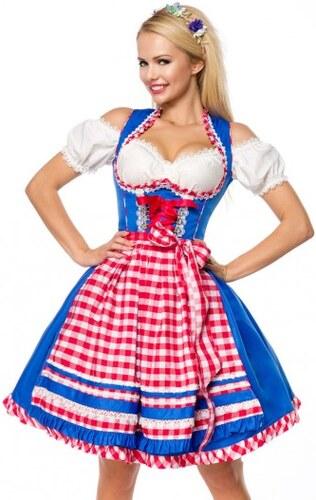 08a2c6183477 Kockované dirndl krojované šaty Dirndline 70038 - Glami.sk