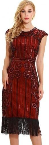 ee1ee4e80690 Spoločenské červené retro šaty v štýle art deco 20. rokov N14884 ...