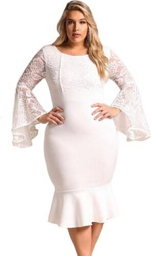 Krátke biele spoločenské šaty pre moletky LC61875-1 - Glami.sk 052629756d2