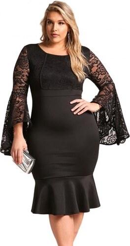 Krátke čierne spoločenské šaty pre moletky LC61875-2 - Glami.sk 6c2ab137b76