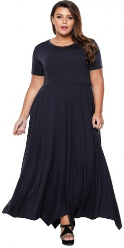 Dlhé modré maxi šaty s vreckami pre moletky LC61902-5 - Glami.sk c708a24f7e8