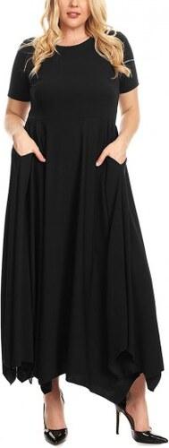 Dlhé maxi čierne šaty s vreckami pre moletky LC61902-2 - Glami.sk aed838b1cb3