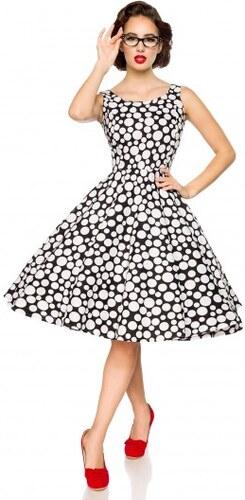 d1bd5993d640 Elegantné spoločenské retro šaty s bodkami od Belsira Belsira 50092 ...