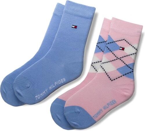 Két pár hosszú szárú gyerek zokni TOMMY HILFIGER - 334013001 Orchid Pink 146 179c969404