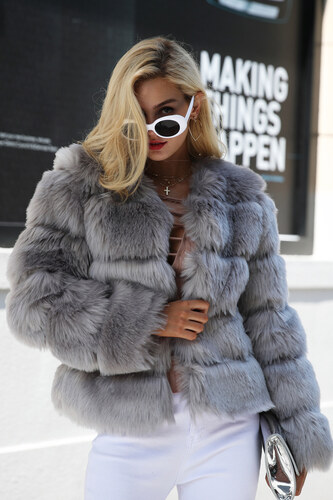 Perfect Hodně teplý a krásný chlupatý kožich kabát - Glami.cz 2044562cbd