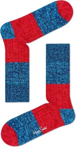Modro-červené vlnené ponožky Happy Socks 6947aaa4ac