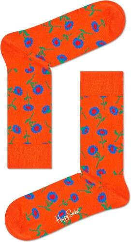 -30% Červené ponožky Happy Socks so žltými slnečnicami 566a3f750c