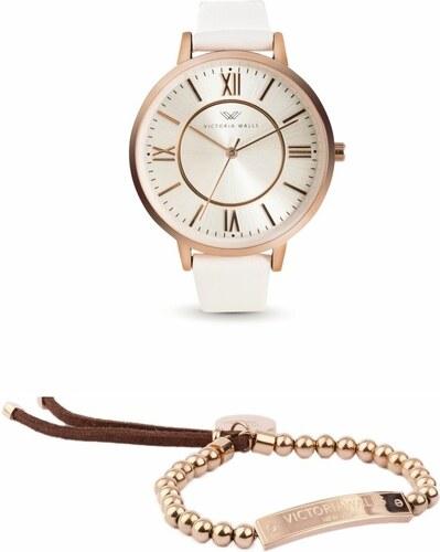 a5534a021 Set dámskych hodiniek s remienkom z chirurgickej ocele a náramku Victoria  Walls Puro