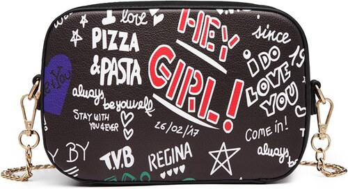 29aced28c3 Miss Lulu Crossbody kabelka - Love Graffiti - čierna - Glami.sk