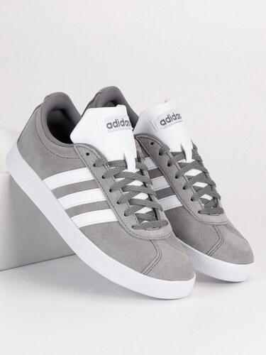 Kožené šedé tenisky značky Adidas - Glami.sk 8618df57aa