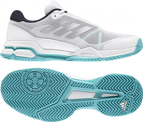 -50% Pánské tenisové boty adidas Performance barricade club (Tmavě modrá    Stříbrná   Bílá) 0373d6b2f9