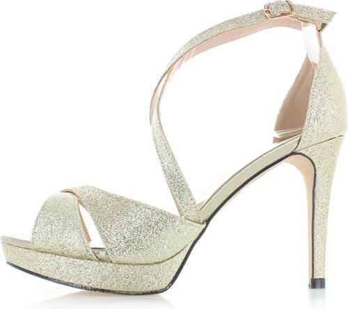 a0f1e8bb5798 Moow Zlaté sandále Vicki - Glami.sk