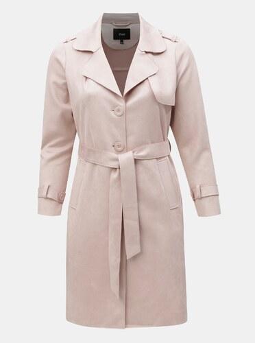 Světle růžový lehký kabát v semišové úpravě Zizzi - Glami.cz a90a08f5f5