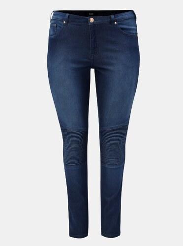 04b74554c7c Tmavě modré slim džíny s vysokým pasem Zizzi - Glami.cz