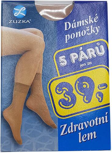 da61a1b44d9 Bleskovynakup.cz Dámské silonové ponožky 5 párů - tělové silonky Zuzka -  zdravotní lem
