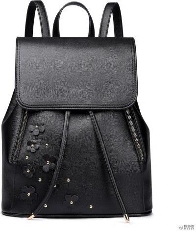 Miss Lulu London LH6808-MISS LULUbőr zsinóros hátizsák táska fekete ... 402d2baef8