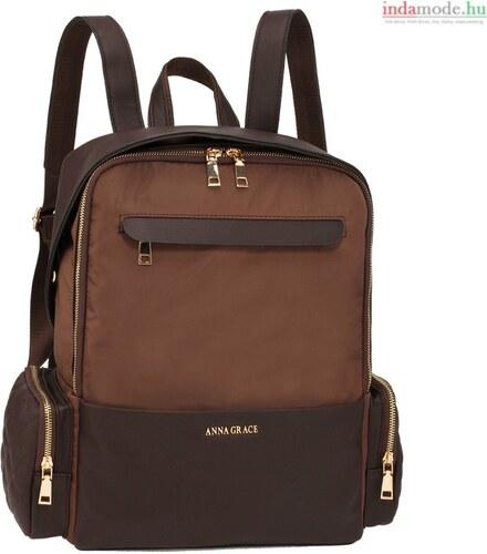 Anna Grace AG00572 - Kávé színű hátizsák 842a1e66cd