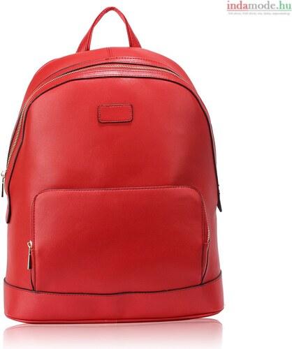 Piros bőrhatású hátizsák iskolatáska Anna Grace - Glami.hu ca7ad0999a