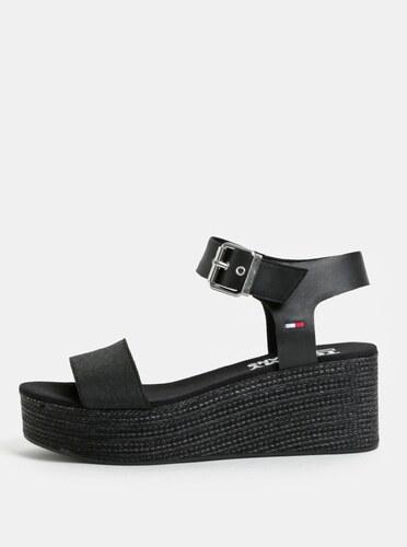 7424c7338b Čierne dámske sandále na klinovom podpätku Tommy Hilfiger - Glami.sk