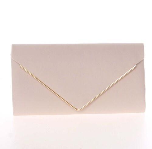 cdf660e43b Moderná saténová dámska listová kabelka marhuľová s glitterom - Delami D697  telová