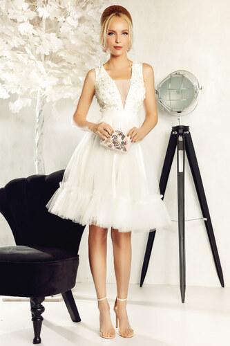 Fehér StarShinerS alkalmi harang ruha tüll virágos díszek 3d effekt ... bf9b9424f6
