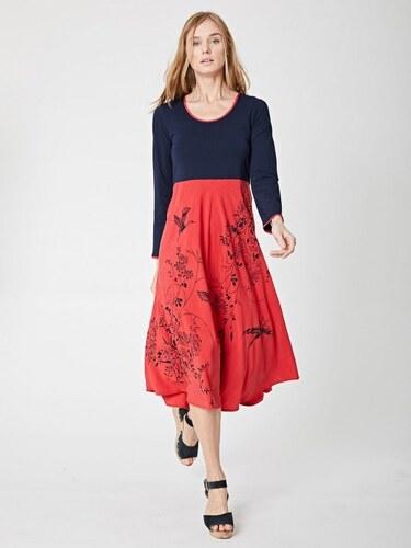 9ac6a39b56b Thought Modro-červené šaty z biobavlny - Glami.cz
