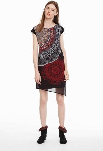 šaty Desigual Babilon negro - Glami.sk c6df07e41c7