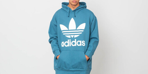adidas Originals adidas Trefoil Oversized Hoodie Blanch Blue - Glami.sk bb6140e388