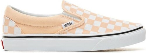 -36% Dámské boty Vans CLASSIC SLIP-ON (CHECKERBOARD) BLEACHED APRICOT TRUE  WHITE 41 facfa47476