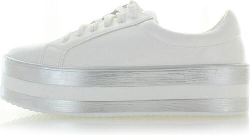 b1528b458c20 Ideal Biele platformové tenisky Brie - Glami.sk