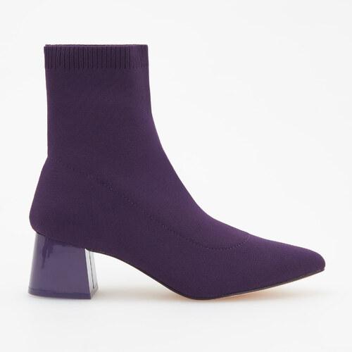 77c6659193 Reserved - Členkové topánky so stredne vysokým opätkom - Purpurová ...