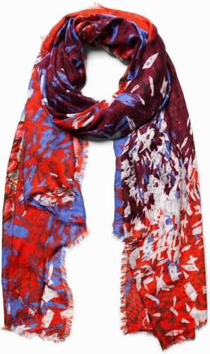 šátek Desigual Abstract Roses rojo sangre - Glami.cz f991bd4e5a