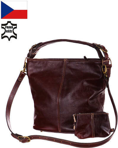 -16% Glara Dámská černá kabelka z pravé kůže - vyrobeno v České republice d8d9e73977b