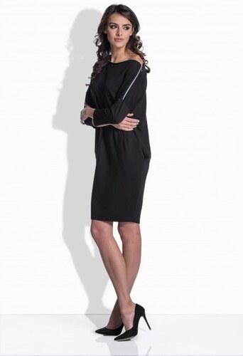 Lemoniade Čierne bavlnené šaty s detailom na ramene 158 - Glami.sk 77270a81d14