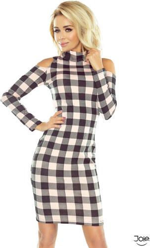 a60ba7e1d8d8 Numoco Čierno ružové kárované dámske šaty 165-1 - Glami.sk