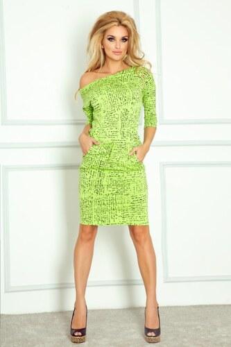 Numoco Zelené dámske šaty PAPIRUS - Glami.sk 6e9cd5291f5