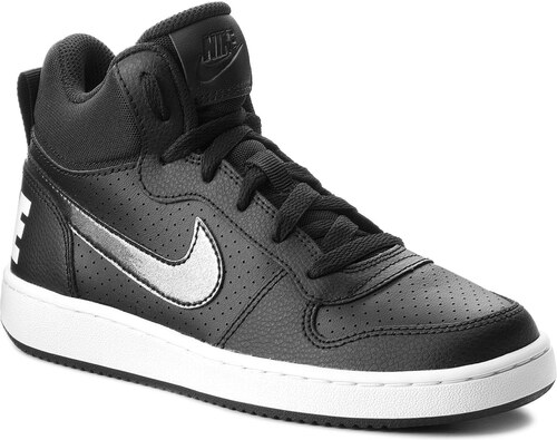 Cipő NIKE - Court Borough Mid (GS) 845107 004 Black Black White ... 7293cee69f