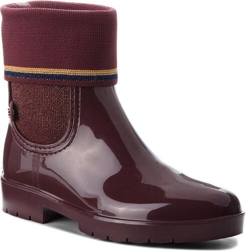 Gumicsizmák TOMMY HILFIGER - Knitted Sock Rain Bo FW0FW03565 Decadent  Chocolate 296 a9b09531d0