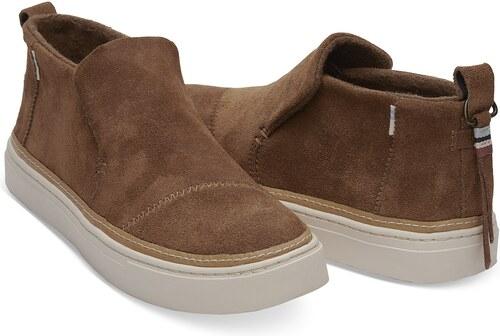 Toms hnědé kožené boty Paxton Dark Amber Suede Water Resistant - 39 ... d748bf6113