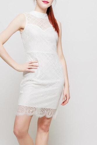 Rouzit Dámske biele úzke šaty s krajkou - Glami.sk ebc6e848912