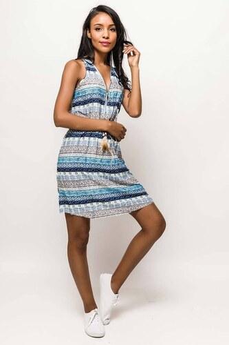 Rouzit Letné modré vzorované šaty - Glami.sk 7012361c052