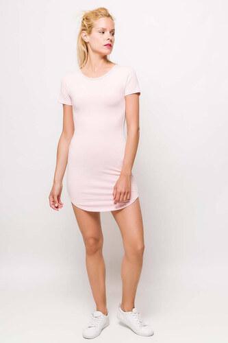 fde58093cc27 Rouzit Dámske ružové mini šaty s pásikom - Glami.sk