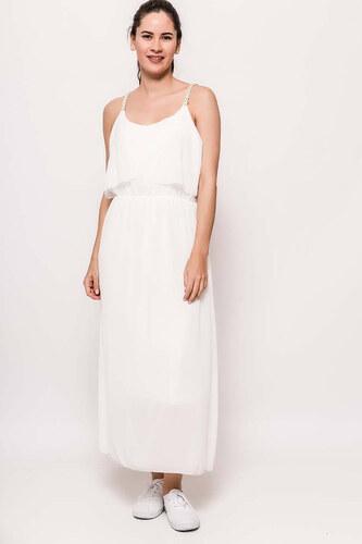 Rouzit Dlhé biele šaty na ramienka - Glami.sk 8bed87a3d14