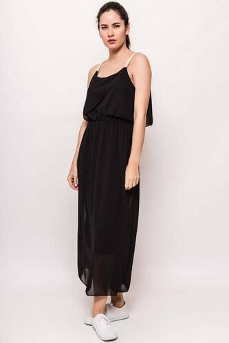 bc912e8f6368 Rouzit Dlhé čierne šaty na ramienka - Glami.sk