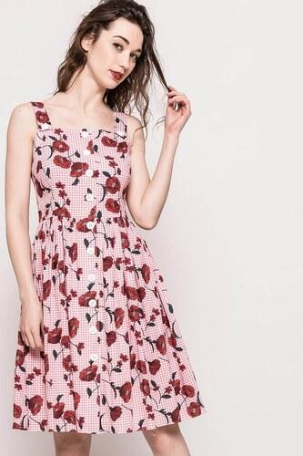ab7e28cb6ee4 Rouzit Dámske midi šaty s potlačou kvetu vlčí mak - Glami.sk