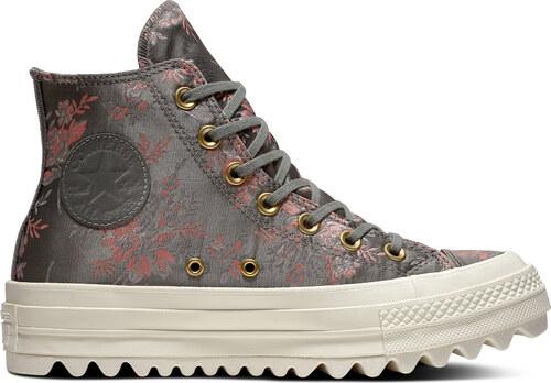 5829ef5b8cfe Converse szines tornacipő Chuck Taylor All Star Lift Ripple Hi River  Rock/Floral/Egret
